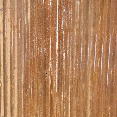 Rusted Corrugated Metal Roofing